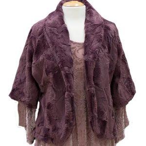 NWT Vine Street Mulberry Crushed Velvet Jacket